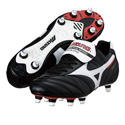 Soccer Shoes Morelia II Si Cleats in Aluminum Leather Upper Black Size: 10 UK