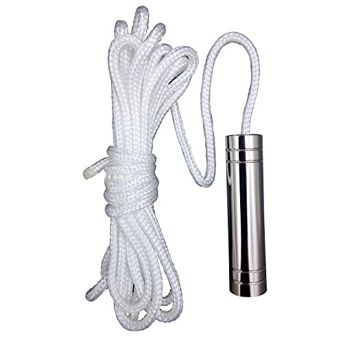LumenTY Cylinder Light Pull Cord – 150cm Brass Plated for Bathroom Light Pull Blinds and Ceiling Fans - Chrome