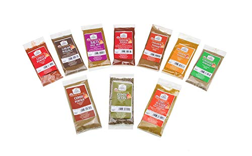OLD INDIA Curry Spice Kit 10 Spices- World Class Quality (Perfect Refills for an Authentic Indian Spice Tin)