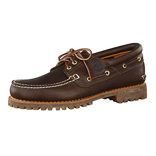 Timberland Mens ICON 3-Eye Brown Boat Shoes 8.5