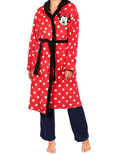 Disney Womens Minnie Mouse Dressing Gown Red Size Medium