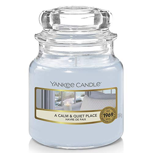 Yankee Candle Scented Candle   A Calm and Quiet Place Small Jar Candle   Burn Time: Up to 30 Hours