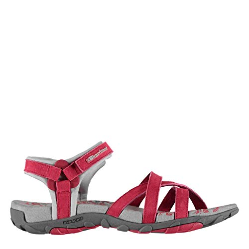Karrimor Womens Salina Leather Walking Sandals Strap Touch and Close Outdoor Raspberry UK 7 (40)