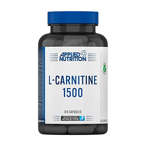 Applied Nutrition L Carnitine 1500, Fat Burner Pills Supplement, Boosts Energy & Weight Management, L-Carnitine L-Tartrate 1500mg, 120 Capsules - 60 Servings