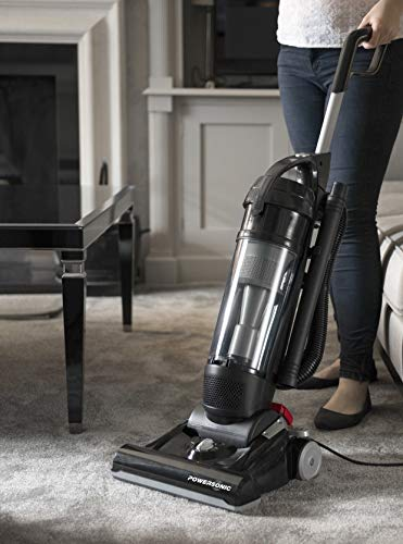 Powersonic Powerful Lightweight Bagless Upright Vacuum Cleaner Hoover 800w Black