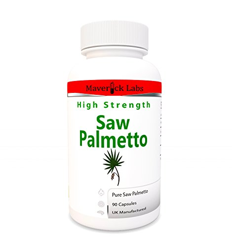 Saw Palmetto 3,000mg Extract 45% Fatty Acids Capsules (Co2 Extraction) Strong - for Prostate + Hair Loss - Vegetarian and Vegan Safe