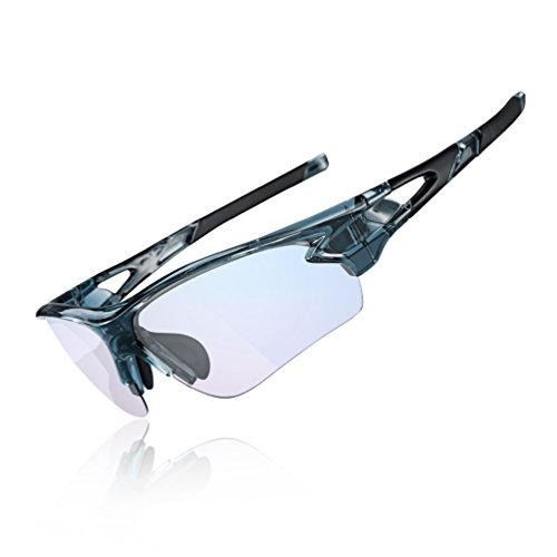 ROCKBROS Photochromic Cycling Glasses with 3 in 1 Intelligence Lenses for Men & Women Outdoor Sports Goggles UV400 Protection Sunglasses Eyewear