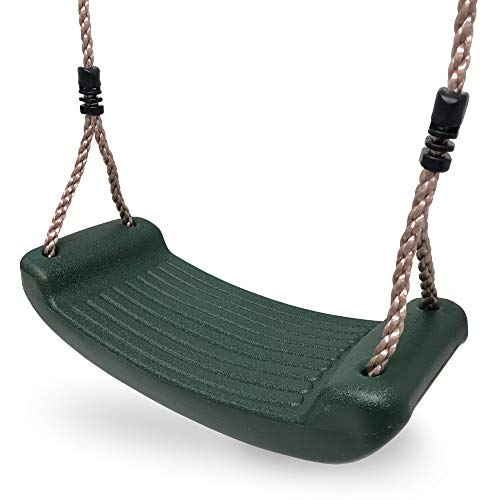 HIKS® Deluxe Green Childrens Kids Garden Swing with adjustable ropes included Ideal for Swing Sets and Climbing Frames ( also available in Blue & Red )