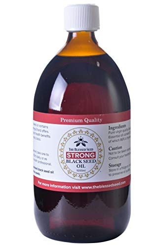The Blessed Seed Strong Black Seed Oil - 1Liter - 100% Pure and Cold Pressed Liquid, Antioxidant, Immune Booster and Health Supplement