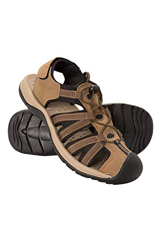 Mountain Warehouse Bay Reef Mens Shandals - Synthetic Upper Summer Shoes, Neoprene Lining Sandals, Lightweight, Cushioned Foam Footwear - for Walking, Beach, Travelling Brown 10 UK