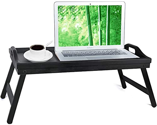 Bed Tray Table with Folding Legs Serving Breakfast in Bed Platter Tray TV Table Laptop Computer Tray Snack Tray