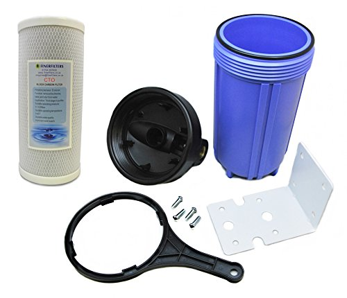 Finerfilters Whole House Water Filter System Purifier, Filtered Water for Whole Home with 5 Micron Carbon Block Filter