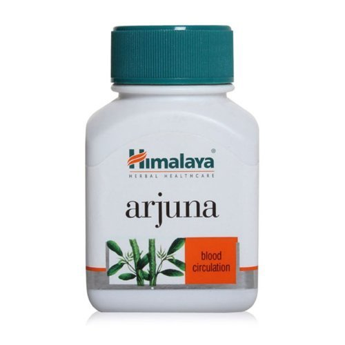 Himalaya Arjuna Capsules, Single Herb food supplement, Supports Cardiovascular Health, Herbal actiive Has Antioxidant And Antibacterial Properties, sustains Blood Circulation within the normal rage - 60 Capsules