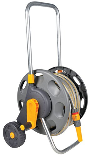 Hozelock 2488P0000 Hose Trolley 60m Drum with 25 m Hose and Basic Equipment
