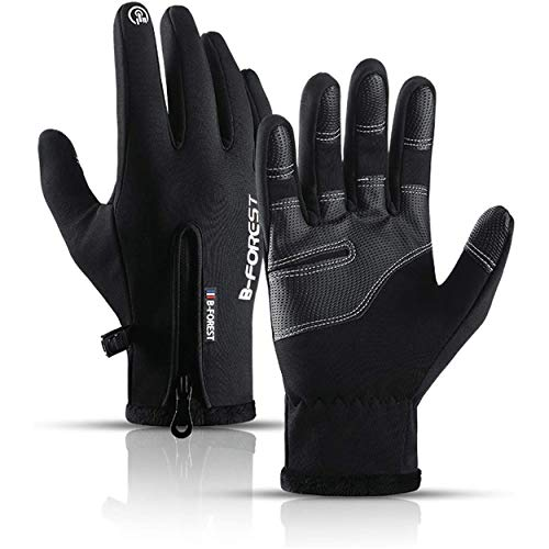 Funnasting Cycling Gloves, Winter Thermal Gloves Waterproof Touchscreen Gloves Adjustable Windproof Anti-Slip Gloves Autumn Gloves for Men Women Cycling, Driving, Running, Fishing, Hiking