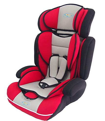 Bebe Style Car Seat, Convertible, Group 1 2 3, 9-36 kg, 9 Months to 12 Years, Combination Booster & Child Seat, with ECE R44/04 Certification, Red