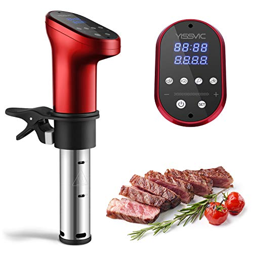 YISSVIC Sous Vide Precision Cooker Machine 1200W Immersion Sous Vide Circulator Water Bath with Accurate Temperature and Time Control for Healthy Eating