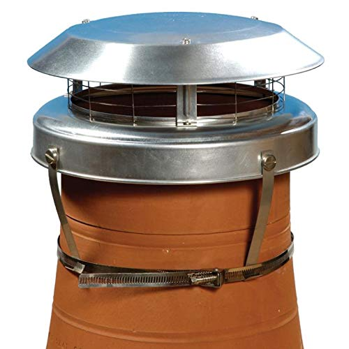 ALUMINIUM COLT TOP 2 CHIMNEY COWL ANTI DOWN DRAUGHT WITH BIRD GUARD RAIN ENTRY PROTECTION . STOP SMOKE FUME BLOWBACK FOR STOVES & FIRES