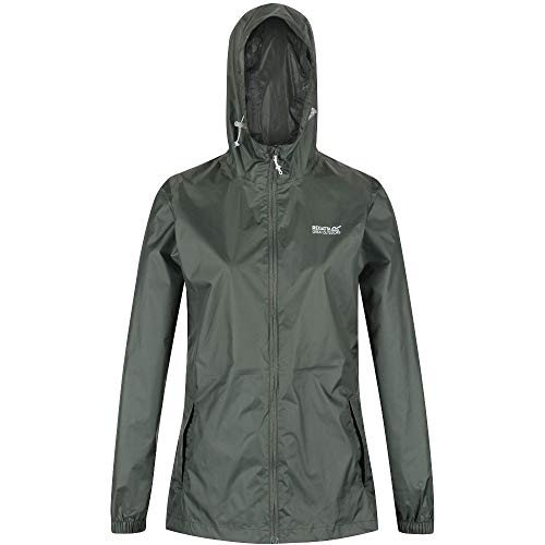 Regatta PACK-IT III Women's Technical and Compact Wax Jacket Waterproof Shell, Thyme Leaf, FR: M (Manufacturer's Size: 14)