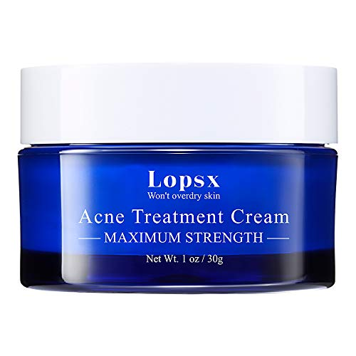 Lopsx Anti Acne Treatments Cream for Spots Blemishes and Blackheads Problem Skin Double Strength Salicylic Acid Cream Suitable and Safe for Prone to Acne Skin & Sensitive Skin