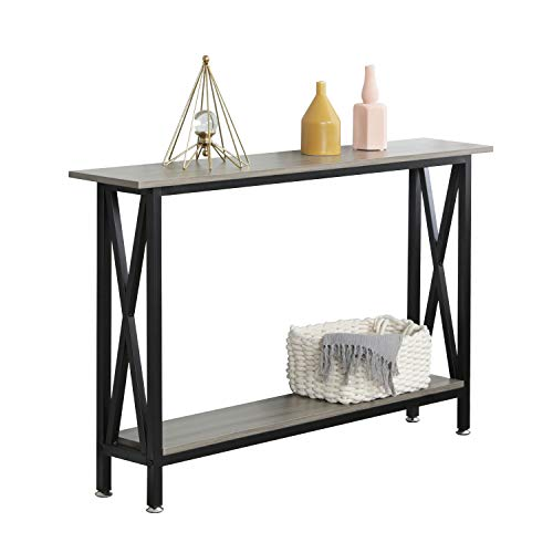 soges Console Table Hallway Entryway Table with Shelf Living Room Bedroom Desk Storage Shelves,DX-125-SWN