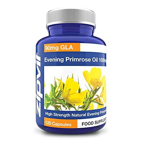 Evening Primrose Oil 1000mg, 120 Capsules. Omega 6 90mg. 4 Months Supply