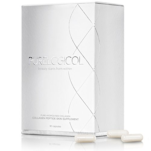 Collagen Tablets, Best Hydrolysed Protein Peptide Skin Supplement, for Youthful, Glowing Skin, 100% Collagen Hydrolysate, Types 1 & 3, Grass-fed Bovine, Super-Effective, Halal Approved, Rich in Amino Acids - (90 x Collagen Capsules x 800mg)