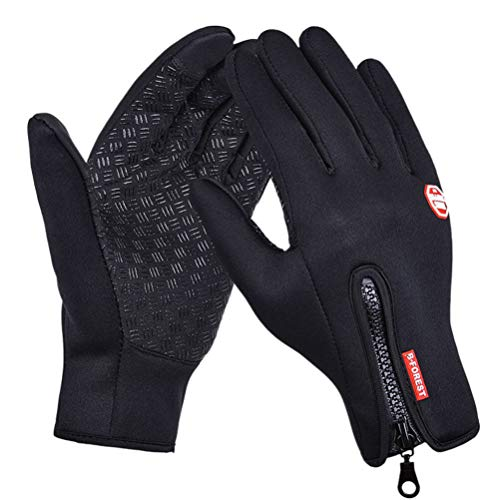 Cycling Gloves, Vakki Thermal Gloves Fashion Touch Screen Gloves Waterproof Winter Gloves Adjustable Full Finger Sports Gloves for Cycling, Driving, Camping, Hiking, Fishing