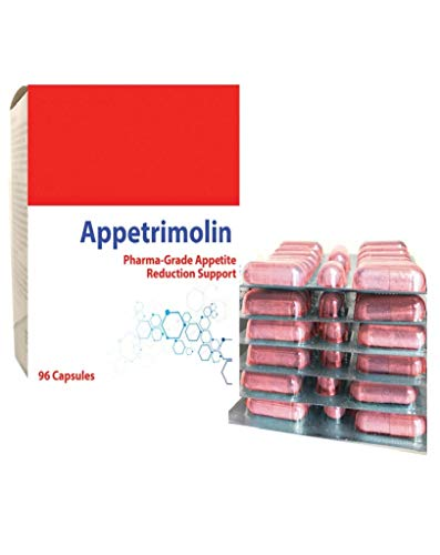 Appetrimolin Appetite Suppressant Reducer Diet Slimming Weight Loss Pills 96 Capsules Per Pack (1)