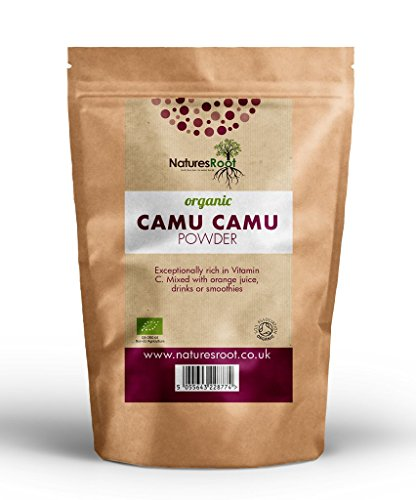 Organic Camu Camu Powder 125g by Natures Root- Natural Vitamin C   Certified Organic by The Soil Association