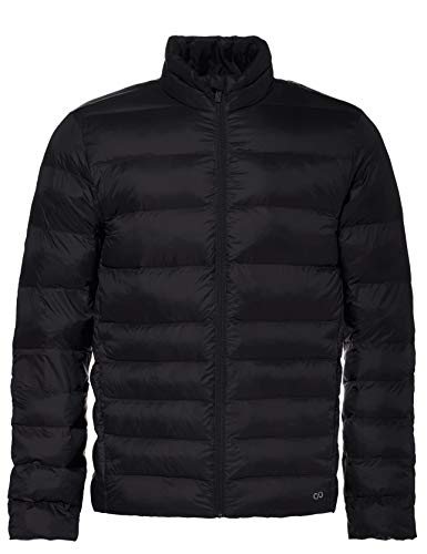 CARE OF by PUMA Men's Funnel Neck Puffer Jacket, Black, XL, Label:XL