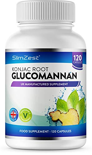 Glucomannan Konjac Root - 120 Vegetarian Capsules - 3000mg Daily Serving - UK Manufactured - Vegan Friendly - Glucomannan Root - Proven to Contribute to Weight Loss in an Energy Restricted Diet, Pills For Men & Women - Order Today From A Well Known Trusted UK Brand