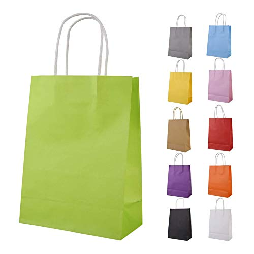 Ywinler Paper Party Bags, 33 Pieces Kraft Paper Bags Party Bags Gift Bag with Handle for Christmas Birthday Wedding Parties (22 * 8 * 16)