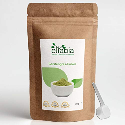 eltabia Barley Grass Powder 500g 100% Pure Without additives, raw Food Quality