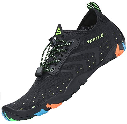 Water Shoes Mens Aqua Shoes for Sailing Swimming Footwear Quick Drying Lightweight Wet Shoes for Beach Night 9 UK