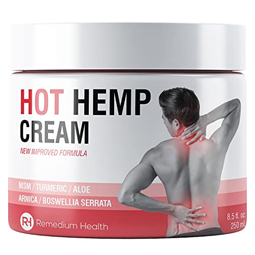 Joint & Muscle Hemp Pain Relief Cream - Deep Heat Sensation. Natural Extracts Soothe Feet, Joints, Knees, Back & Shoulders with Arnica, MSM, Turmeric & Aloe Vera (250ml)