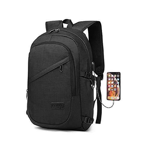 Kono Travel Laptop Backpack,Anti-Theft Business Backpack Bag with USB Charging Port,Lightweight Laptop Bag,Water Resistant Work College School Rucksack Gifts for Men Women Fits 15.6 Inch Laptop