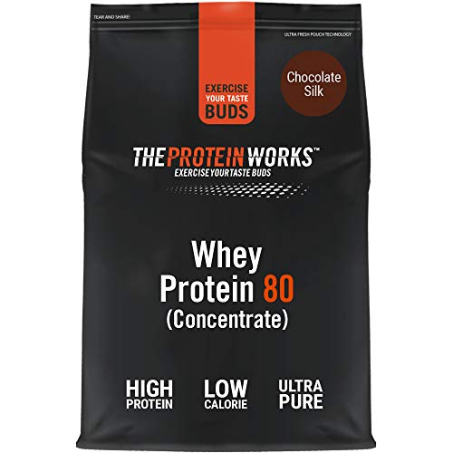 THE PROTEIN WORKS Whey Protein 80 (Concentrate) Powder | 82% Protein | Low Sugar, High Protein Shake | Chocolate Silk | 2 Kg