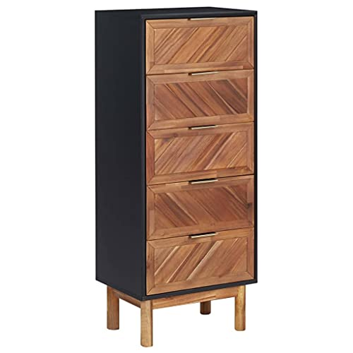 Sideboard Wooden, Highboard Storage Organiser Cabinet Cupboard Room Divider Indoor Decor Display Cabinet for Bedroom Study 45x32x115 cm Solid Acacia Wood and MDF