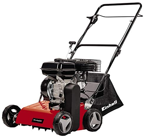 Einhell Petrol Scarifier GC-SC 4240 P (Up to 1200m², 4.2 Kw, 4-Stroke Engine, Ball-Bearing Cutting Unit with 18 Steel Blades, Central Scarifying Depth Adjustment with 8-Levels)
