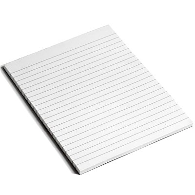 White Box Memo Pad Ruled 80 Sheets 148mm x 210 mm [Pack of 10]