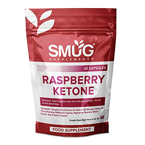 Raspberry Ketone Fruit Extract   60 Capsules   1000mg Raspberry Ketones   Super Strength Weight Loss Food Supplement for Men and Women   Made in The UK