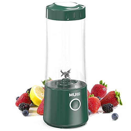 Mulli Portable Blender,USB-C Rechargeable Personal Mixer for Smoothie and Shakes, Mini Blender with Six Blades,4000mAh for Baby Food,Travel,Gym