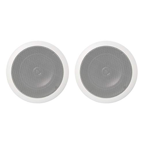 Amazon Basics - Round built-in speakers for ceiling / wall (pair), 16.5 cm