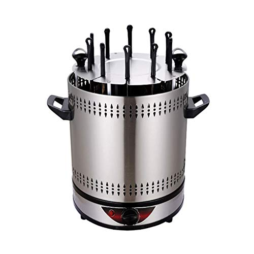 Vertical Rotating Grill, 1400W Timing Kebab Machine for Rotisserie Chicken, Kebab, Grill Fish, BBQ & Vegetables(6 Grilled Fork/8 Grilled Fork/10 Grilled Fork)
