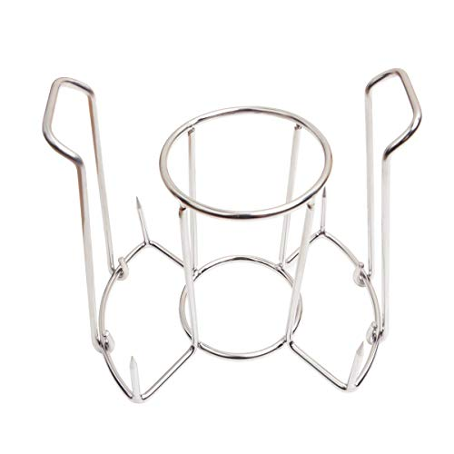 Onlyfire FPA-5121 Beer Can Chicken Roaster Rack, Stainless Steel Poultry Holder, Chicken Holder for Grills and Ovens