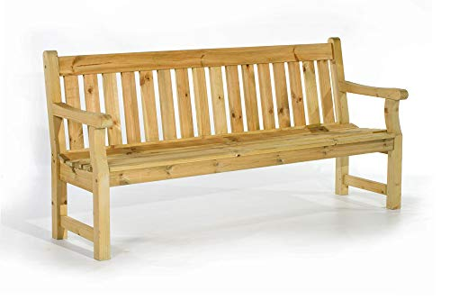 BrackenStyle BrackenStyle Darwin Park Bench – Durable Heavy Duty Garden Seat – Suitable for up to 4 People 183cm Length