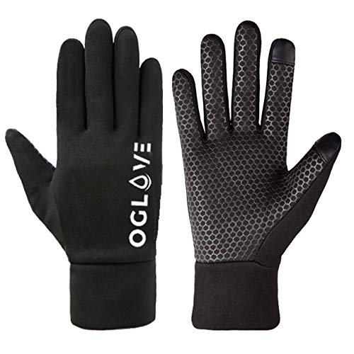 OGLOVE Waterproof Thermal Sports Gloves, Touchscreen Sensitive Field Gloves for Football, Rugby, Running, Mountain Biking, Cycling and More, Adult Medium