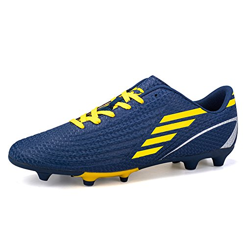 DoGeek Football Boots Junior Adults Soccer FG Football Trainers (The Size are Correct Now, Choose One Size Bigger Than You Need) Blue