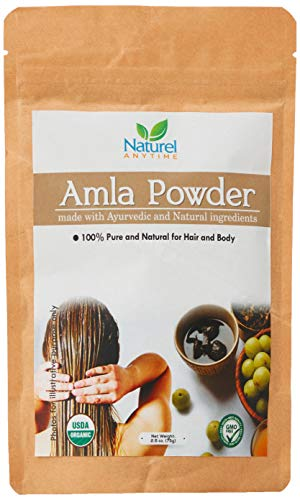 Organic Amla Powder with Fenugreek, Soapnuts and other ingredients(check image)   Hair Mask/Body Wash   75gm   can reduce Dandruff and other Scalp problems   Must Strand Test  